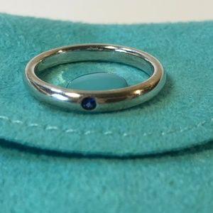 Tiffany&Co Peretti Sterling Blue Sapphire Ring 5